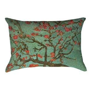 Lei Almond Blossom Suede Lumbar Pillow