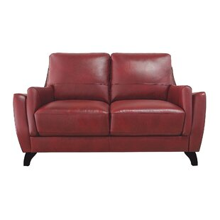 Carrington Leather Loveseat