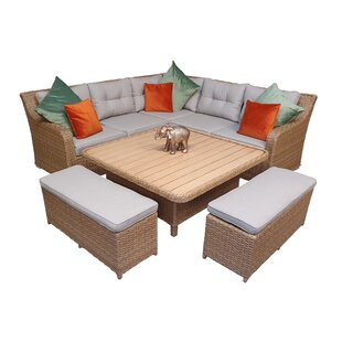 Elizabeth Garden Corner Sofa With Cushions Image