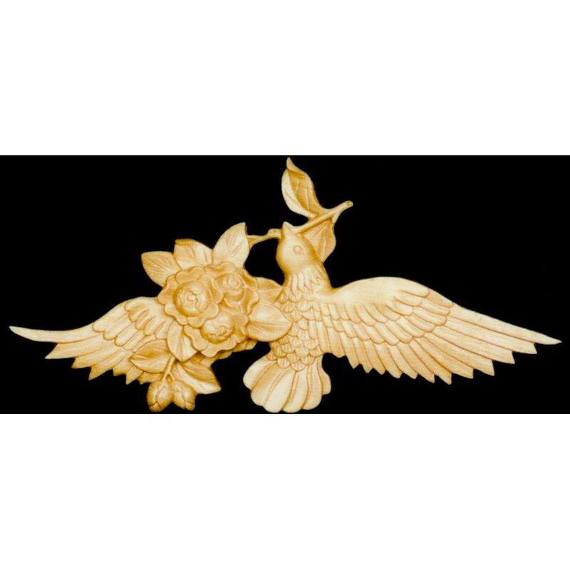 Alston Inc Bird Rose 5 1 2 H X 6 W X 5 8 D Onlay Scroll Wayfair