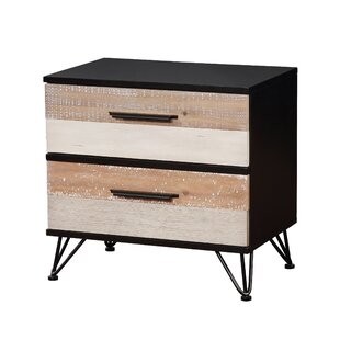 Carlisa Transitional 2 Drawer Nightstand by Union Rustic