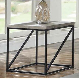 Alldredge Industrial Minimal End Table