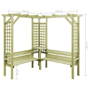 Bourgoin 2m X 1.9m X 1.9m Wood Pergola By Sol 72 Outdoor
