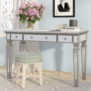 Angelette Mirrored Writing Desk