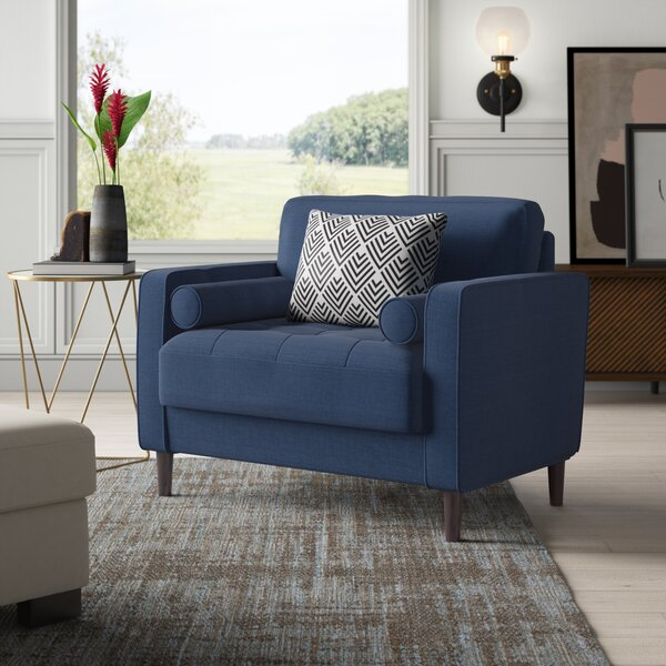 Blue Pattern Accent Chair Wayfair