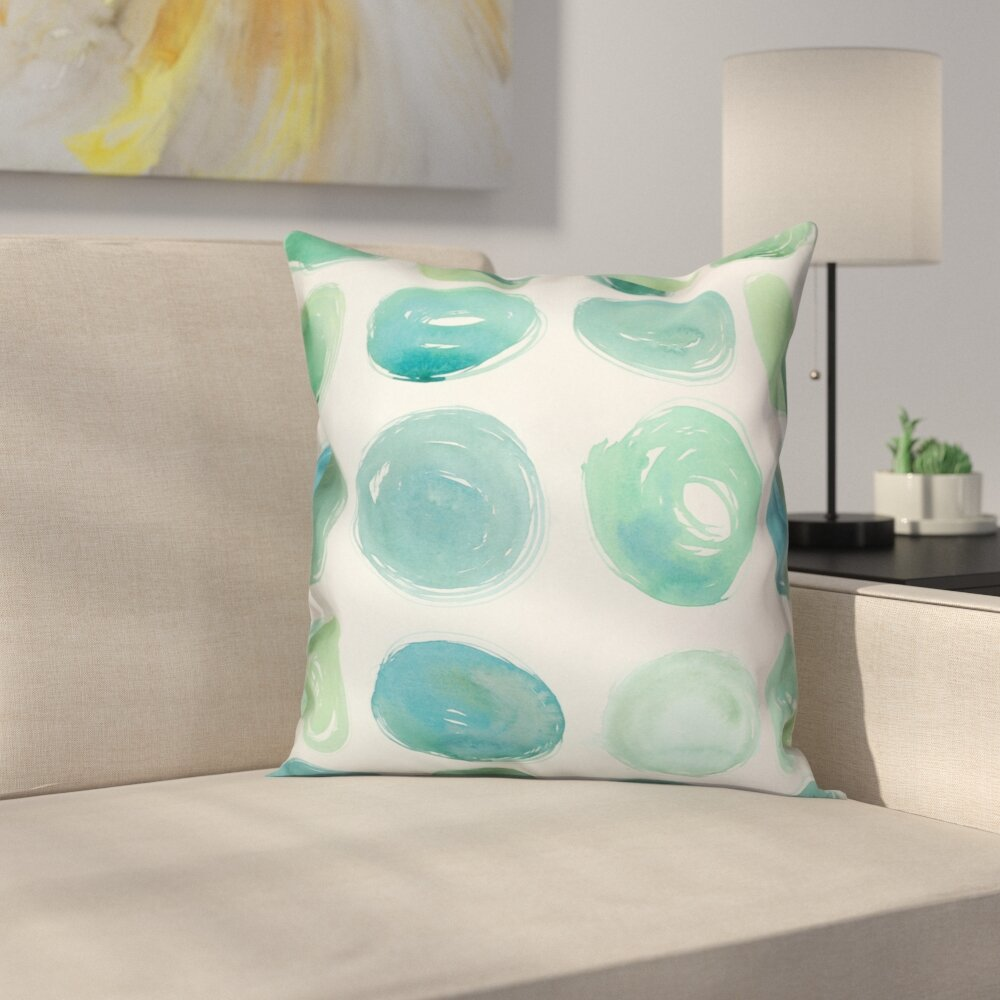 Pleasing Ordonez Watercolor Polka Dots Throw Pillow Machost Co Dining Chair Design Ideas Machostcouk