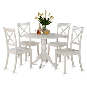 Abrahamic 5 Piece Linen White Dining Set