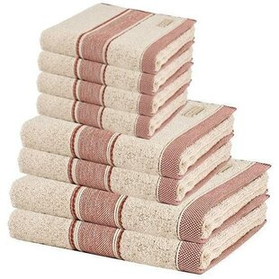 Aileen Premium 8 Piece 100% Cotton Towel Set