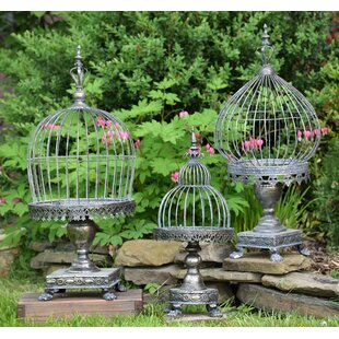 Astoria Grand Assorted Caged 3 Piece Iron Lantern Set
