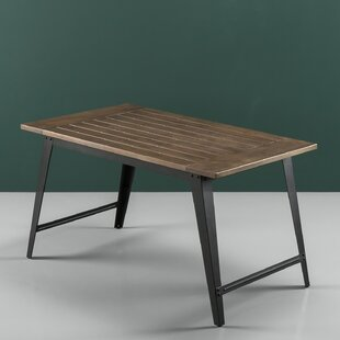 Carle Wood and Metal Dining Table