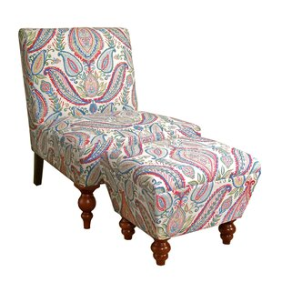 Yareli Slipper Chair and Ottoman