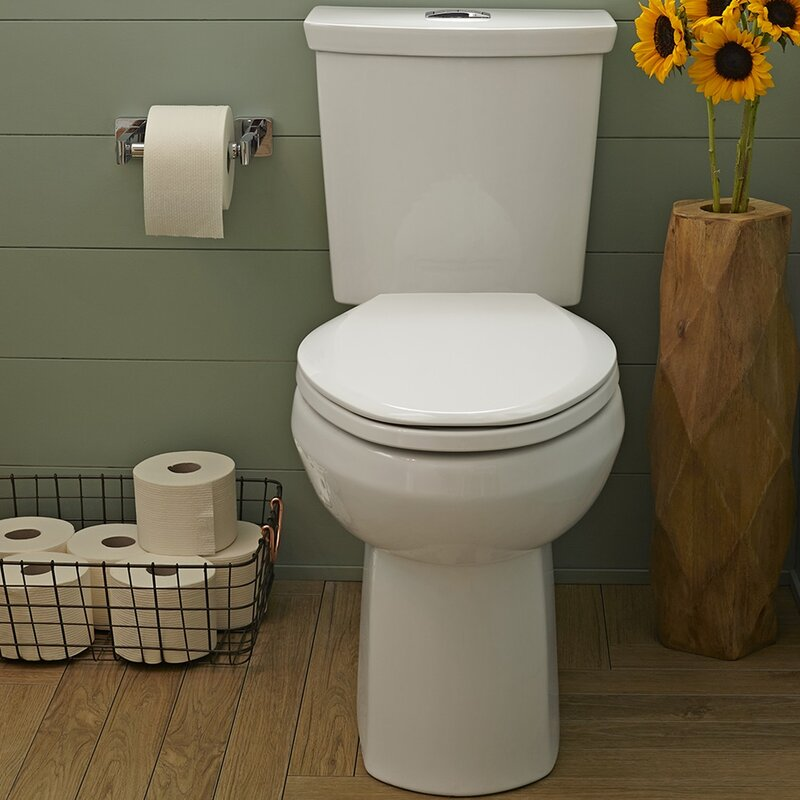 American Standard H2Option Dual Flush Round Two-Piece Toilet (Seat Not Included)