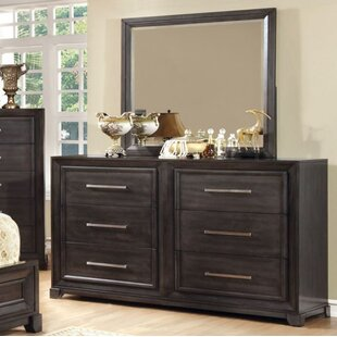Red Barrel Studio Aramis 6 Drawer Double Dresser with Mirror