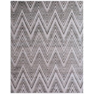 Looking for Reflections Hand-Woven Gray/Black Area Rug ByExquisite Rugs