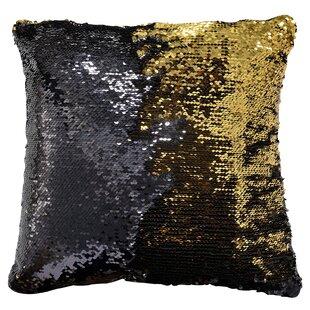 rose gold sequin pillow wayfair