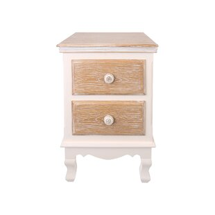 Janna 2 Drawer Bedside Table By Lily Manor