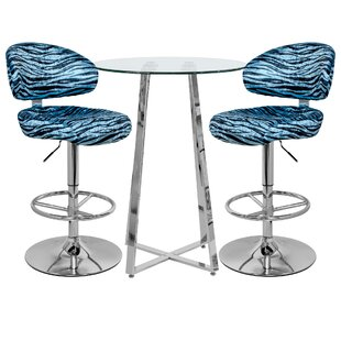 Faiyaz Dining Set With 2 Chairs By Wade Logan