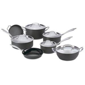 Green Gourmet Hard-Anodized Aluminum 12 Piece Cookware Set
