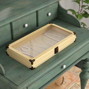 Glass Top Display Case Accessories Storage Jewellery Box