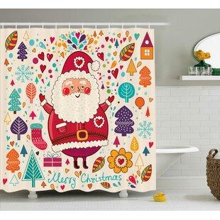 Look for Makenzie Vintage Santa Artsy Shower Curtain ByZoomie Kids