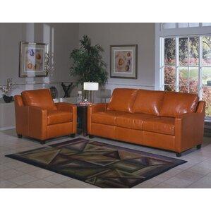 Chelsea Deco Leather Configurable Living Room Set