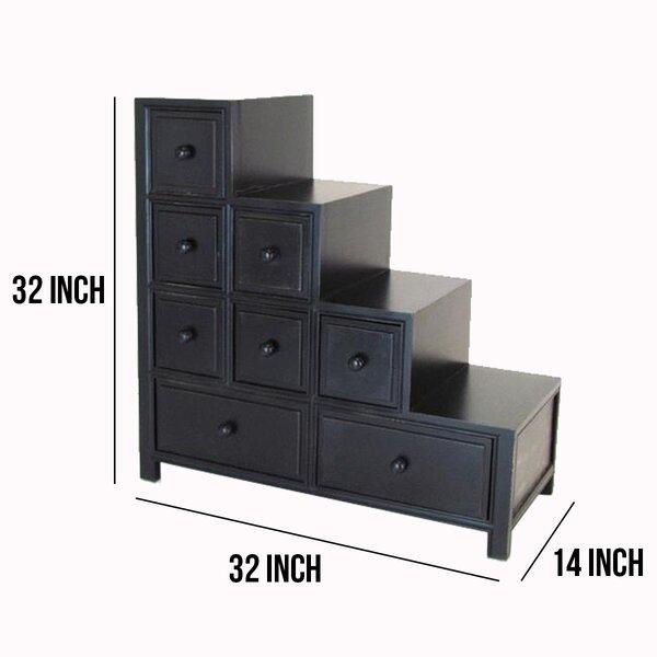 Red Barrel Studio Lene Wooden Reversible Step 8 Drawer Dresser Wayfair