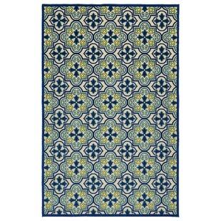 Meriden Hand-Woven Blue Indoor/Outdoor Area Rug by Andover Mills