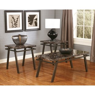 Compare prices Voorhees 3 Piece Coffee Table Set By Signature Design by Ashley