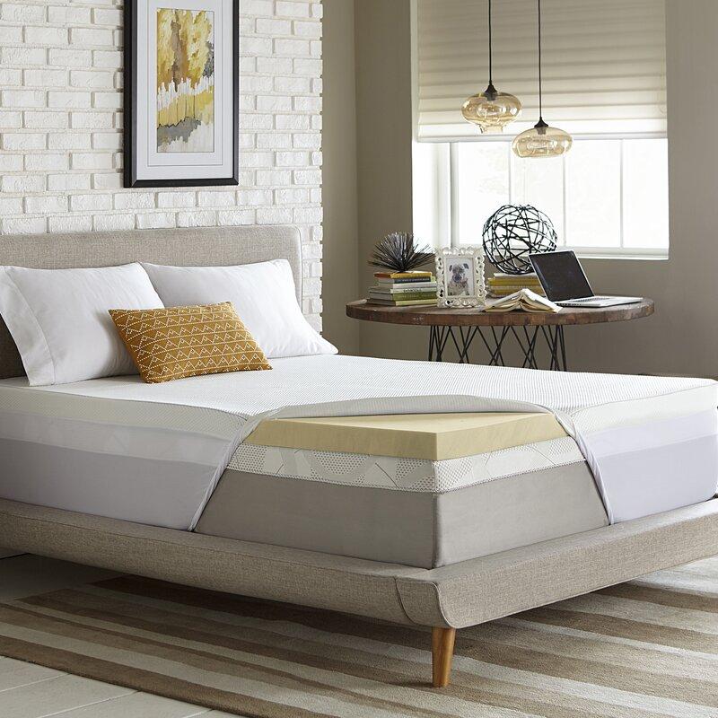 Coprimaterasso Memory Foam 5 Cm.Comforpedic Loft From Beautyrest 5cm Memory Foam Mattress Topper Wayfair