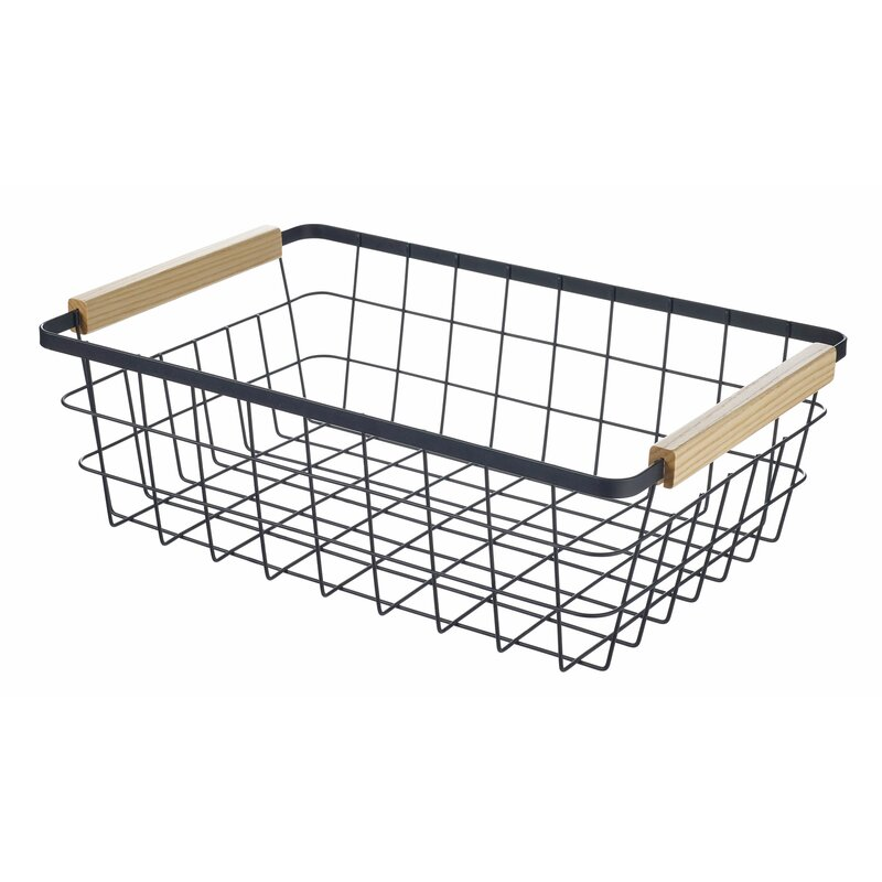 Rebrilliant Pilar Metal Basket Reviews Wayfair Ca