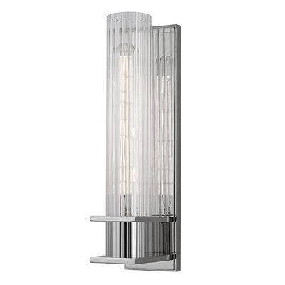 Brayden Studio Conner 1-Light Wall Sconce Finish: Polished Nickel