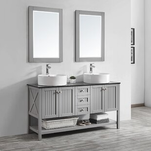 Nadler 60 Double Bathroom Vanity Set with Mirror