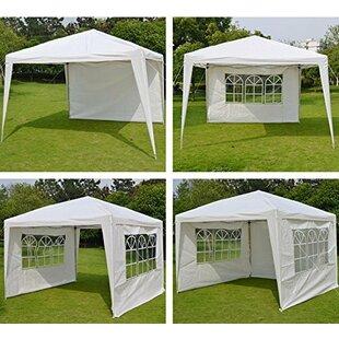 Wedding Folding 10 Ft. W x 10 Ft. D Steel Pop-Up Canopy by Sunrise Outdoor LTD