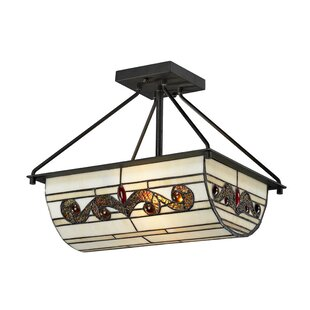 Cy 2-Light Semi Flush Mount by Alcott Hill