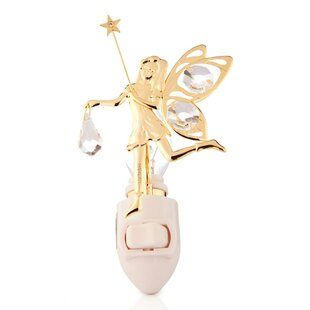 Matashi Crystal 24K Gold Plated Fairy Night Light
