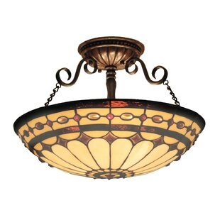Best Reviews Barker Ridge 3-Light Outdoor Semi-Flush Mount By Fleur De Lis Living