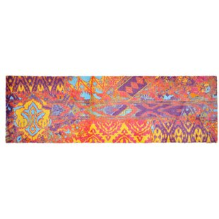 LifeStyle-Mat Worn Yellow/Purple Rug by Pedrini
