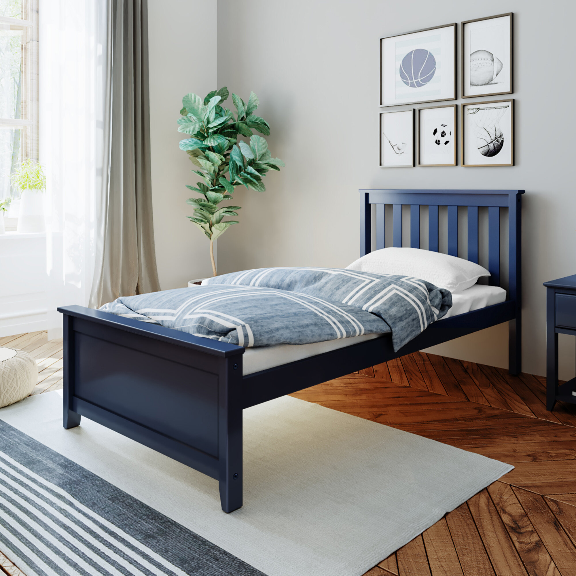 Blue Wood Beds You Ll Love In 2021 Wayfair