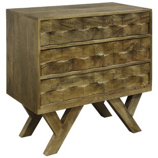 Dubois Solid Mango Wood 3 Drawer Dresser