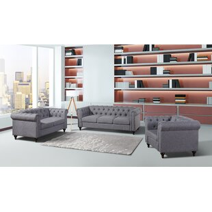 Chesterfield 3 Piece Living Room Set  by Container