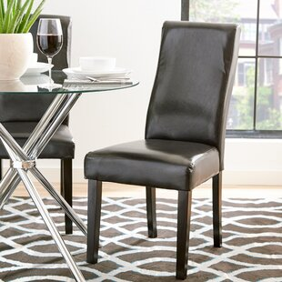 Esquina Curved-Back Upholstered Dining Chair (Set of 2) by Ebern Designs