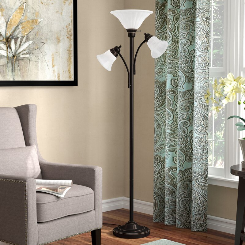Andover Mills Powers 71 Quot Torchiere Floor Lamp Amp Reviews
