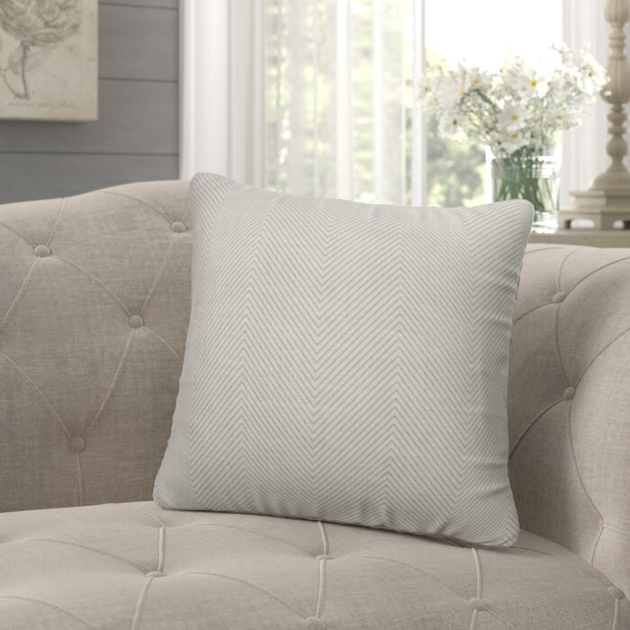 Roney Stitched Zig Zag Tribal Accent Pillow