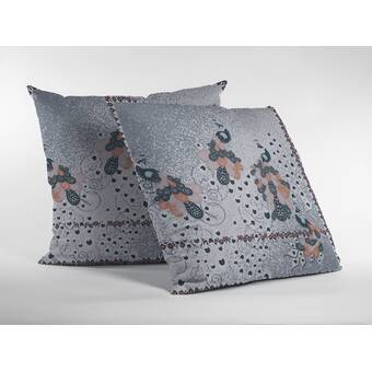 Bungalow Rose Jalyn Peacock Painting Throw Pillow | Wayfair