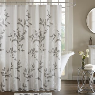 beige and white shower curtain. Lazenby Printed Shower Curtain Curtains  Birch Lane