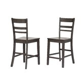 Gorman Slat Back 24 Bar Stool (Set of 2) by Rosalind Wheeler