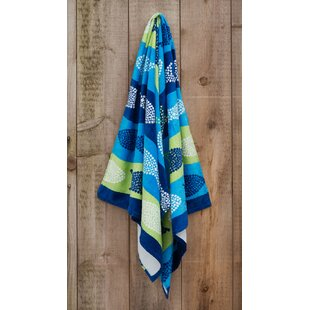 Fish Printed 100% Cotton Beach Towel