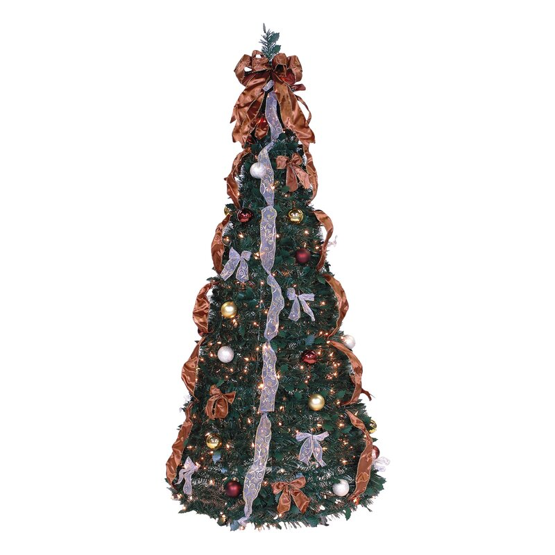 The Holiday Aisle Pop Up 6 Green Pine Artificial Christmas Tree