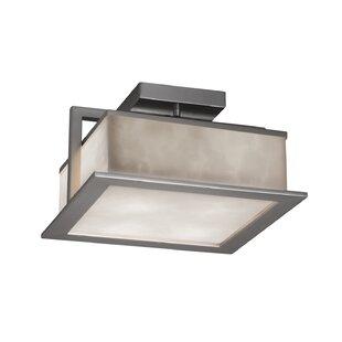 Brayden Studio Genaro LED Outdoor Semi Flush Mount