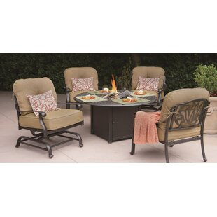 Three Posts Lebanon 5 Piece Conversation Set with Cushions